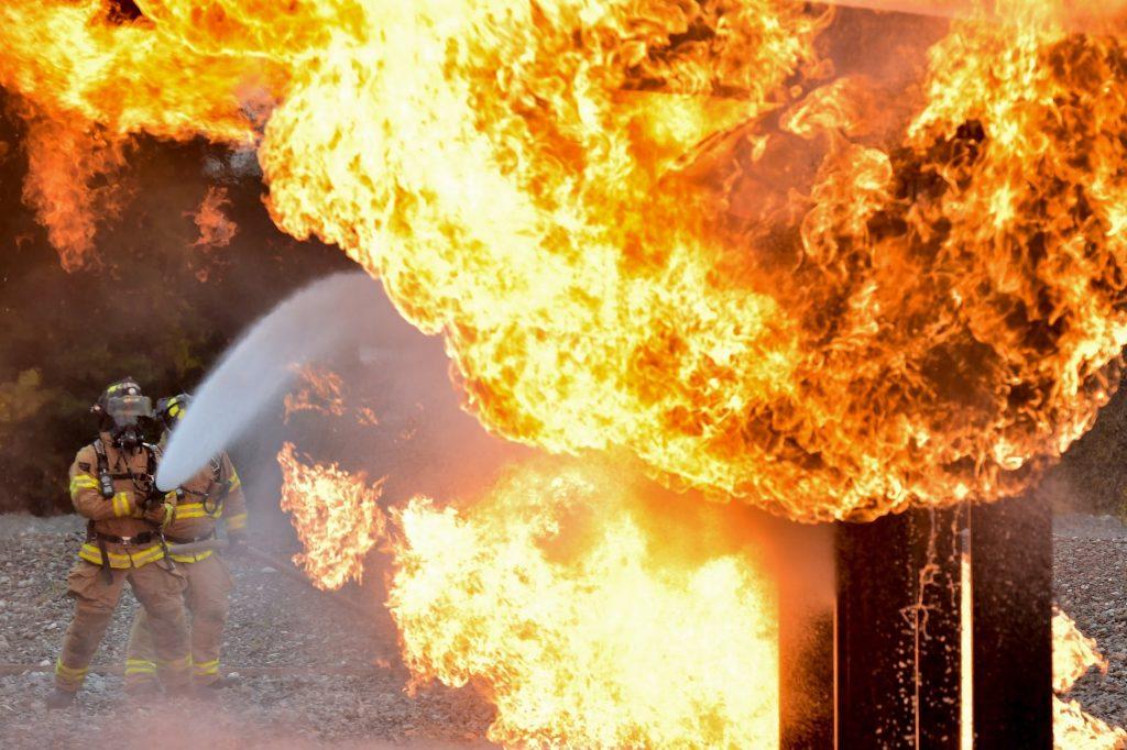 Water blust vuur