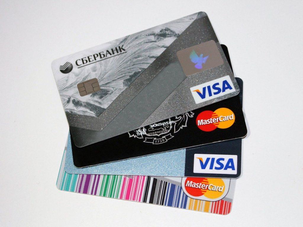De hoeveelheid aan verschillende soorten creditcards